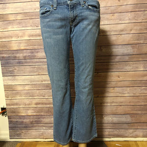 OLD NAVY ULTRA LOW WAIST BOOT CUT JEANS SZ 2S GUC